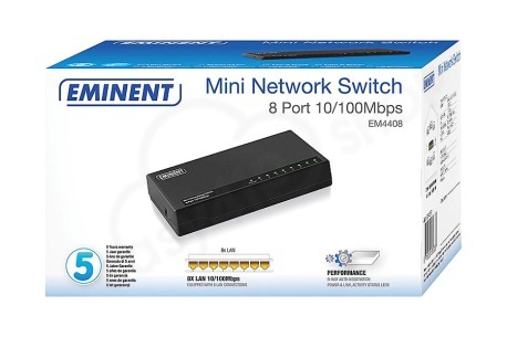 Eminent  Mini netwerk switch 8 poorts